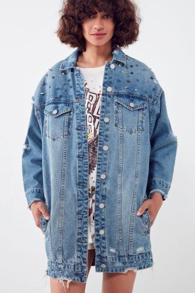 BLANKNYC High Voltage Studded Denim Jacket