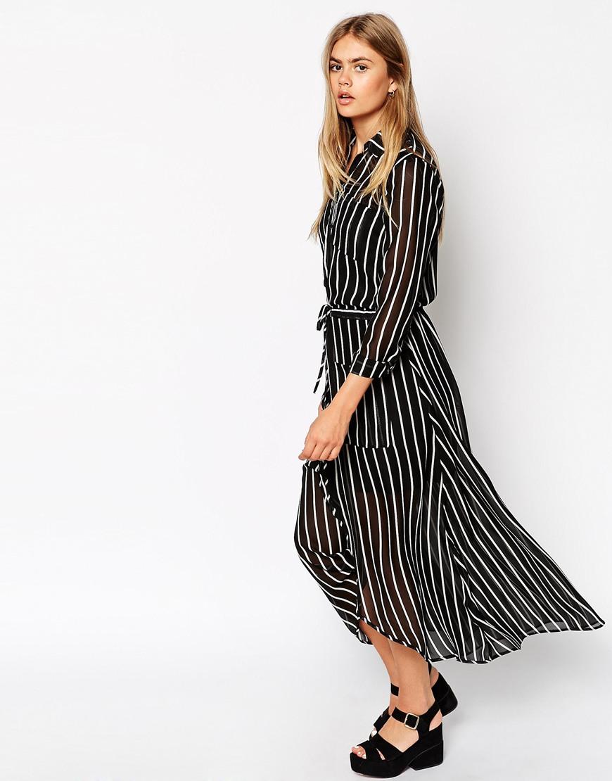 743e04ec55ea ASOS Shirt Stripe Maxi Dress at asos.com