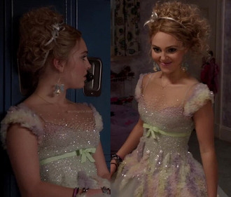 dress prom dress sparkle shimmer georges chakra party dress the carrie diaries