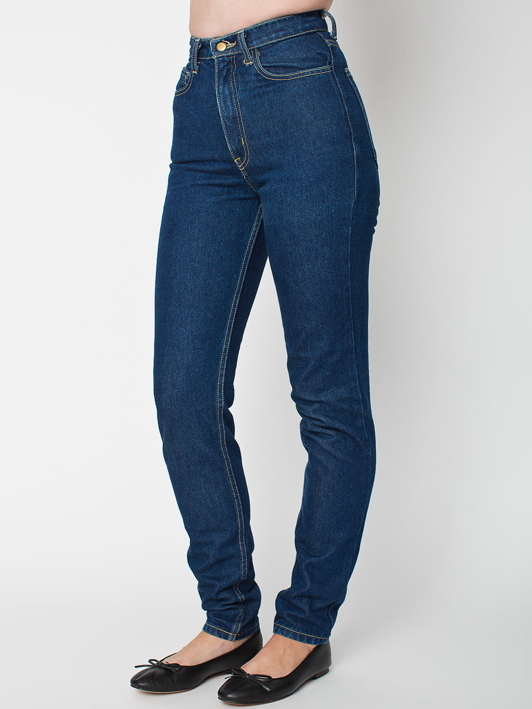 Dark Wash High-Waist Jean | American Apparel