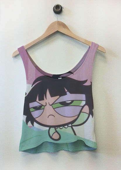 tank top powerpuff girls anime shirt cartoon 90's kid