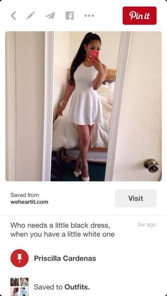 dress white dress skater dress bodycon dress spaghetti strap short dress