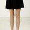 Velvet flowy skater skirt - black