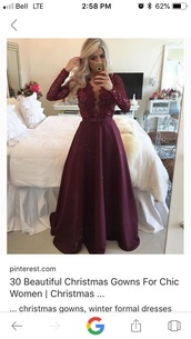 dress,burgundy,burgundy dress,wedding dress,fancy