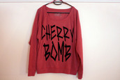sweater,hipster,cute,rock,lovely,red