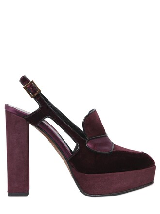 pumps suede velvet shoes