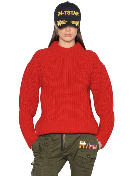 Dsquared2 sweater knit wool red