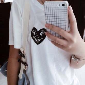shirt iphone case white t-shirt phone cover
