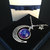 galaxy moon necklace, crescent moon necklace,crescent necklace,galaxy necklace,space jewelry