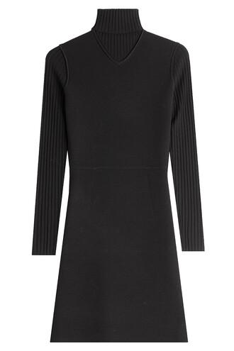 dress sweater dress wool black