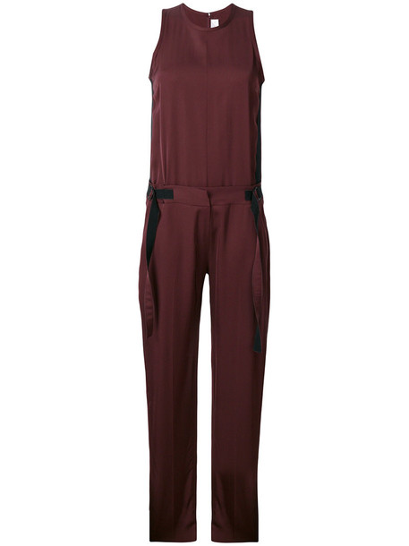 Victoria Victoria Beckham jumpsuit women cotton silk red