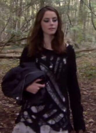 effy stonem sweater grunge goth topshop black ripped