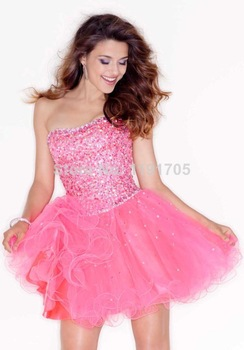 Free shipping sweetheart strapless beaded blue lace prom dress 2014