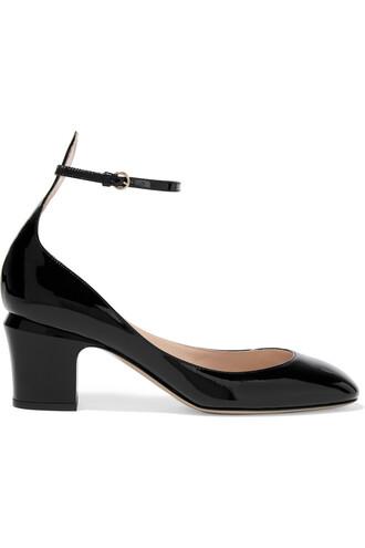tan pumps leather black shoes