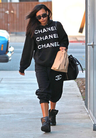 pants jacket sweater chanel marriani naya rivera chanel tracksuit