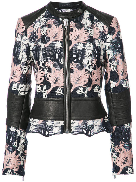 Yigal Azrouel jacket embroidered women cotton black