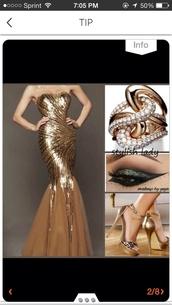 dress,long prom dress,prom dress,gold