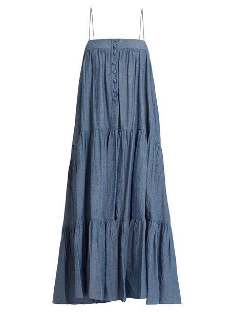 Apiece Apart dress sleeveless cotton denim