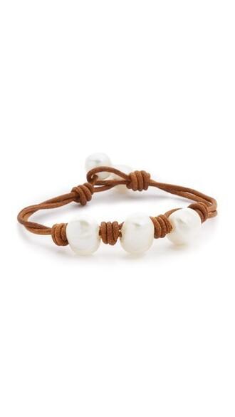 pearl light brown jewels