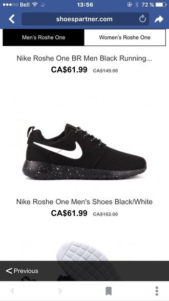 shoes roshe runs mens sneakers black sneakers nike