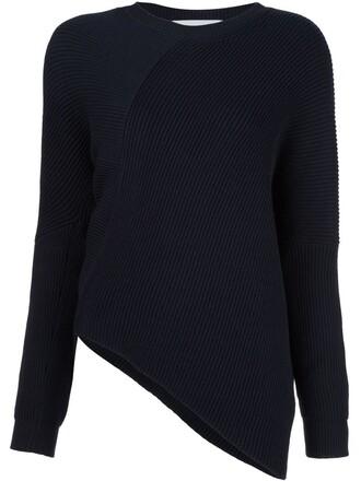 top asymmetrical top asymmetrical women black wool