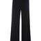 Black viscose stretch wide leg trouser by sally lapointe   moda operandi