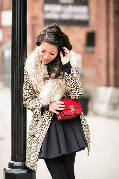 wendy's lookbook blogger bag faux fur fall outfits