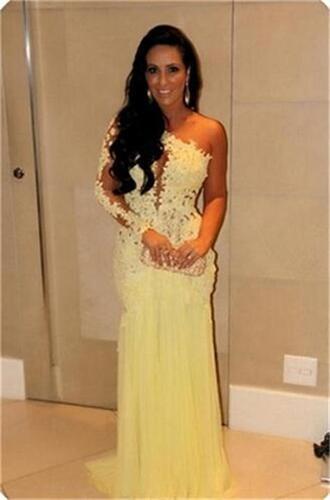 dress prom dress evening dress one shoulder prom dresses