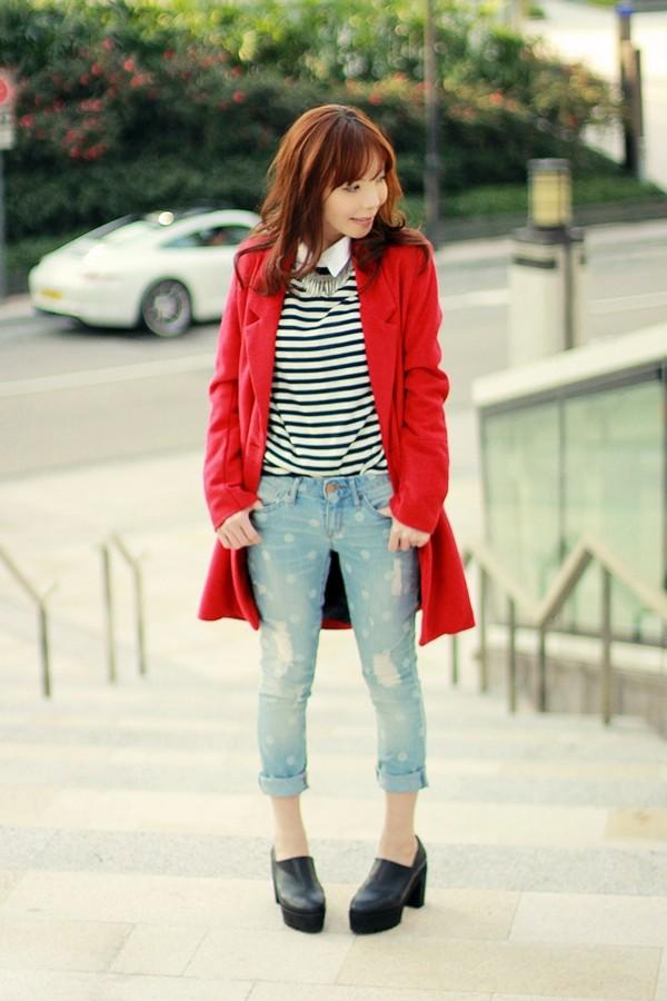 mochaccinoland coat shoes shirt sweater jeans