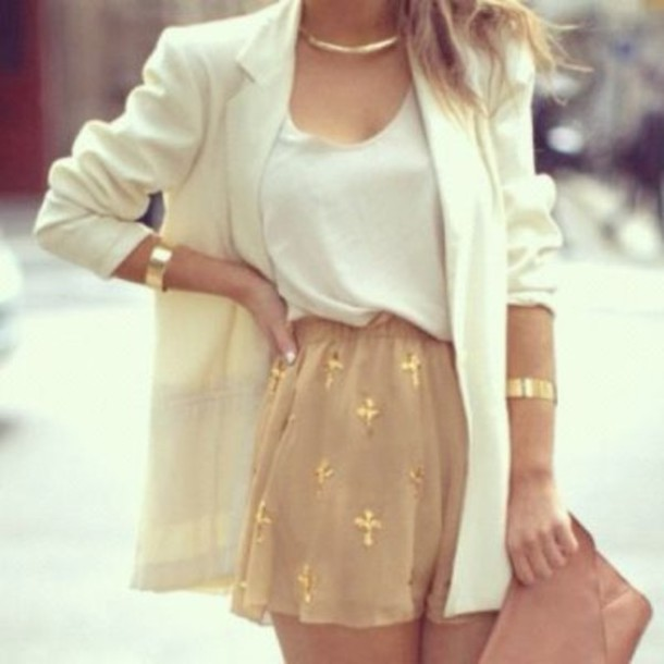 skirt sequins cross crosses white gold chiffon chiffon skirt white tank top jacket tank top beautiful glitter gold sequins shorts short bag tan gold crosses shirt white blouse white summer top white chiffon top dressy shirt white blazer white jacket blazer printed shorts blouse coat jewels gold skirt cross skirt gold jewelry top t-shirt gold jewelry perfect outfit High waisted shorts gold dress 420419 classy girls wear pearls fashion style hippie classy printed pants summer outfits trendy office outfits beige