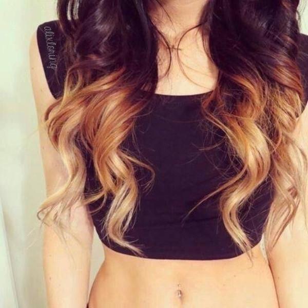 shirt crop tops black
