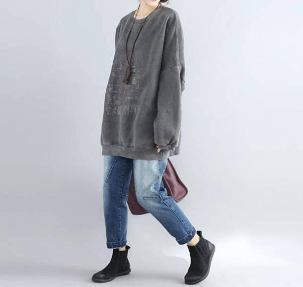 coat gray oversize coat