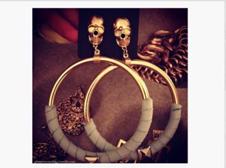 jewels earrings skull fashion jewelry