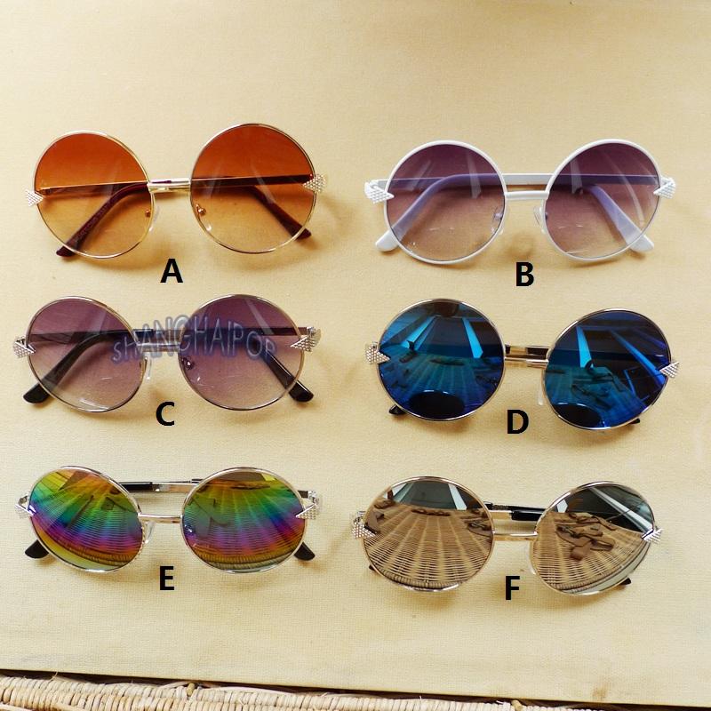 Women Round Sunglasses Shades Big Oversized Sunnies Metal ...