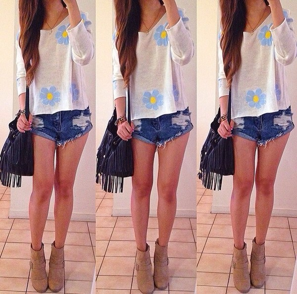 shirt shorts shoes bag jewels