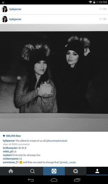 girly kylie jenner hat beanie fur