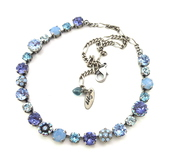 jewels,necklace,light blue,airblueopals,swarovskinecklace,swarovski blue necklace,sparkly necklace,puprle,ornate necklace,ooak,siggy necklace,siggy jewelry,anniversary gift,designer jewelry,swarovski,gifts for her,blue necklace,embellished,blue,tanzanite,purple,valentines day,something blue