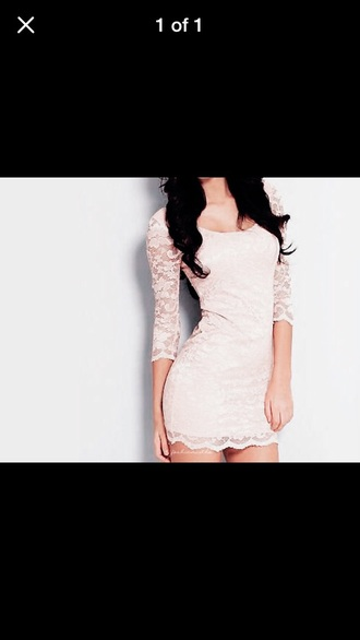 dress white dress lace dress cream dress short dress
