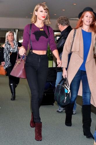 suspenders pants suspenders jeans taylor swift pants top long sleeves bag shoes suspenders fall outfits