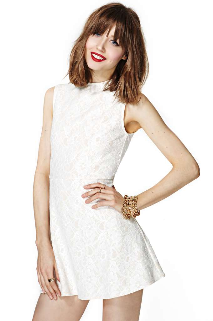 Nasty Gal Anastacia Lace Dress in  Clothes Dresses at Nasty Gal