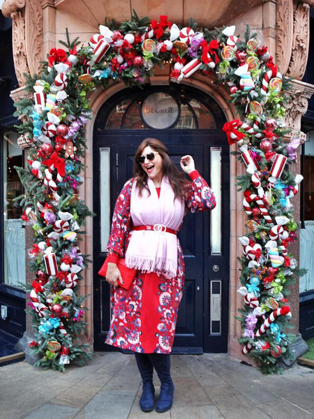 fashion foie gras blogger scarf dress christmas christmas dress