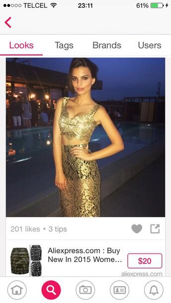 dress gold dresd