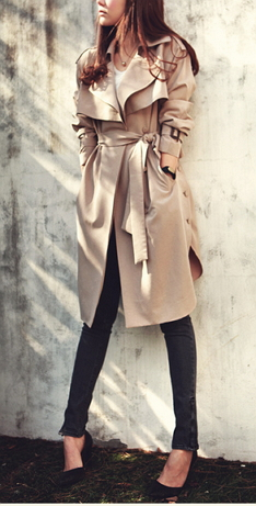 Trench Coat long Outerwear - Juicy Wardrobe