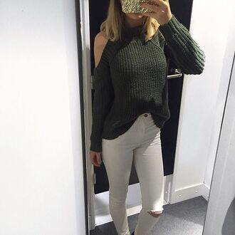 sweater off the shoulder zaful classy fashion trendy street pretty instagram weheartit knitwear boho