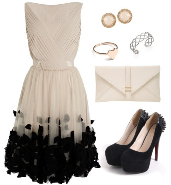dress ootd outfit party outfits collection girl back to school student fashion shoes bag