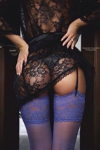 underwear stockings purple women sexy