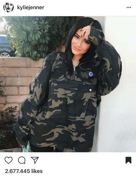 coat army green jacket green camouflage kylie jenner