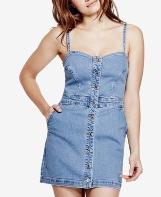 dress guess summer summer dress spring outfits spring denim dress button up macys