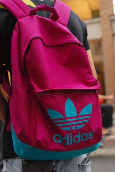backpack bag adidas bookbag adidas bag adidas original burgundy bag street fashion urbanstreet urban street urban streewear magenta burgundy dope style fashion streetwear streetstyle street city back to school
