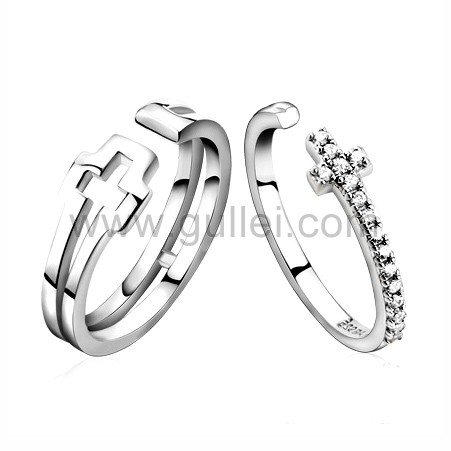 Engraved Sterling Silver Wedding Rings Set for Man and Woman